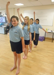 Year 8 Girls Put on their Dancing Shoes