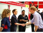 Aspiring Fire Fighter Lucy Meets Prince Harry