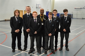 Neil Danns Visits Salford City Academy